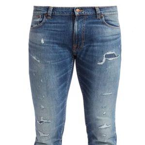 Men's ripped paint comfortable designer jeans